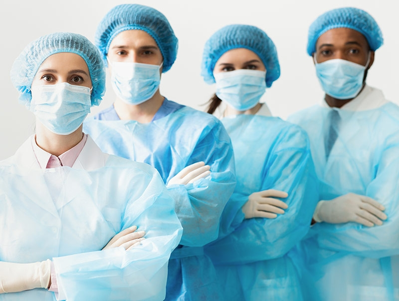 Healthcare workers in PPE